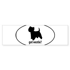 Got Westie? Oval Sticker (Bumper 50 pk)