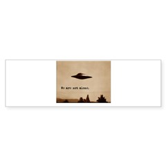 X-Files - We Are Not Alone Sticker (Bumper 50 pk)