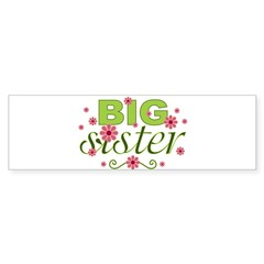 Big Sister Garden Flowers Rectangle Sticker (Bumper 50 pk)