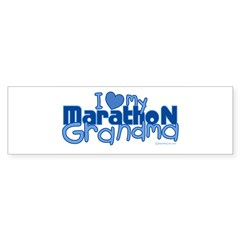I Love My Marathon Grandma Rectangle Sticker (Bumper 50 pk)