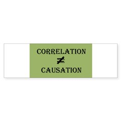 Correlation Causation Sticker (Bumper 50 pk)