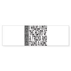 HEART OF A FRIEND Sticker (Bumper 50 pk)
