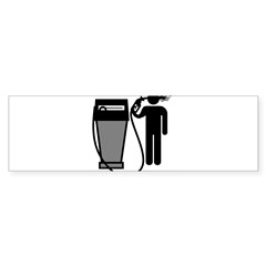Gas Pump Suicide Rectangle Sticker (Bumper 50 pk)
