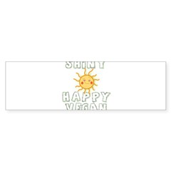 Shiny Happy Vegan Sticker (Bumper 50 pk)