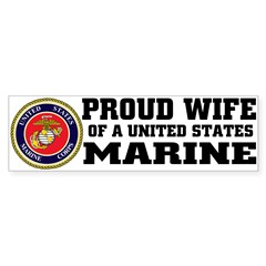 Marine Proud Wife Sticker (Bumper 50 pk)