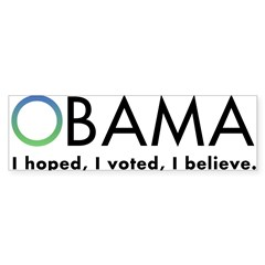 Obama, I believe Sticker (Bumper 50 pk)