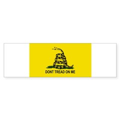 Gadsden Flag Oval Sticker (Bumper 50 pk)