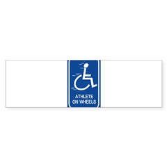 'Athlete on Wheels' Rectangle Sticker (Bumper 50 pk)