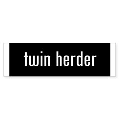 &amp;quot;twin herder&amp;quot; Sticker (Bumper 50 pk)