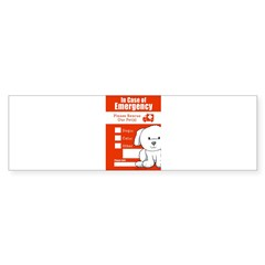 In Case of Emergency Rectangle Sticker (Bumper 50 pk)