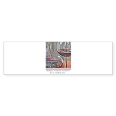 Red Wine Rectangle Sticker (Bumper 50 pk)