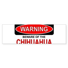 Beware Chi Rectangle Sticker (Bumper 50 pk)