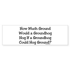 Groundhog Rectangle Sticker (Bumper 50 pk)