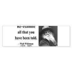 Walter Whitman 11 Rectangle Sticker (Bumper 50 pk)