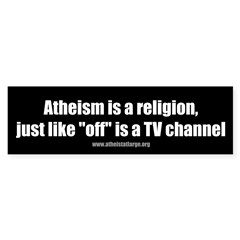 Atheism TV Sticker (Bumper 50 pk)