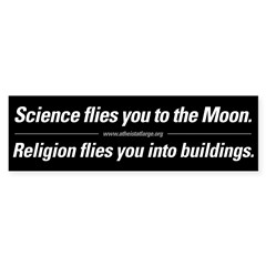 Science vs. Religion Sticker (Bumper 50 pk)