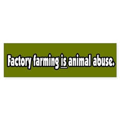 Factory Farm Animal Abuse Vegetarian Sticker (Bumper 50 pk)
