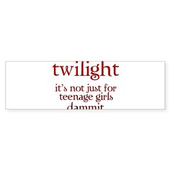 twilight, Not Just for Teenag Rectangle Sticker (Bumper 50 pk)