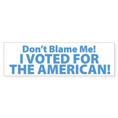 I Voted For The American Sticker (Bumper 50 pk)