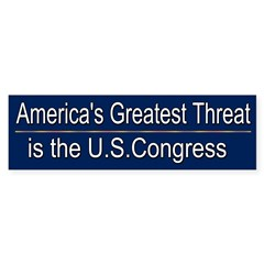 America's Greatest Threat Sticker (Bumper 50 pk)