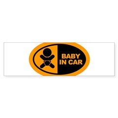 Baby in Car Safety Sticker for Car Sticker (Bumper 50 pk)