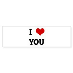 I Love YOU Sticker (Bumper 50 pk)