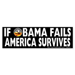 Anti-Obama Obama Fails America Survives Sticker (Bumper 50 pk)
