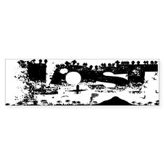 Lost Island White Sticker (Bumper 50 pk)