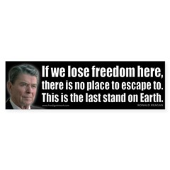If we lose freedom here... Sticker (Bumper 50 pk)