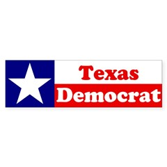 Texas Democrat Sticker (Bumper 50 pk)