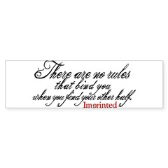 No rules bind Imprinted Sticker (Bumper 50 pk)