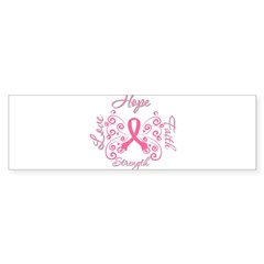 Breast Cancer Butterfly Hope Sticker (Bumper 50 pk)