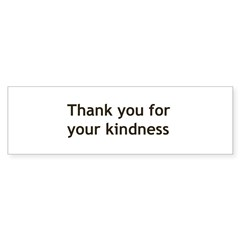 Thank you for your Kindnes Sticker (Bumper 50 pk)