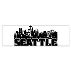 Seattle Skyline Sticker (Bumper 50 pk)