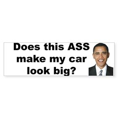 Does this ASS make my car look big? Sticker (Bumper 50 pk)