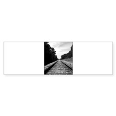 .railroad tracks. b&w Sticker (Bumper 50 pk)