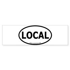 Local Oval Car Sticker (Bumper 50 pk)