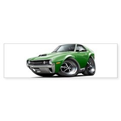 1970 AMX Green Car Sticker (Bumper 50 pk)