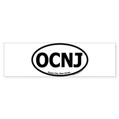 "Ocean City, New Jersey ""OCNJ"" Oval Sticker (Bumper 50 pk)"