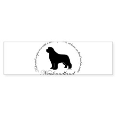 Devoted Black Newf Sticker (Bumper 50 pk)