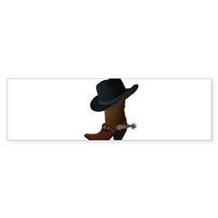 Western Boot & Hat Icon Sticker (Bumper 50 pk)
