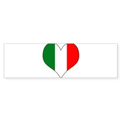 Italy Heart Sticker (Bumper 50 pk)