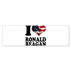 I heart American Flag Ronald Sticker (Bumper 50 pk)