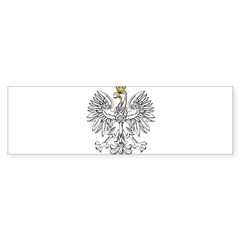 Polish Eagle With Gold Crown Sticker (Bumper 50 pk)