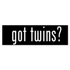 got twins? Sticker (Bumper 50 pk)