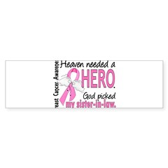 Heaven Needed a Hero Breast Cancer Sticker (Bumper 50 pk)