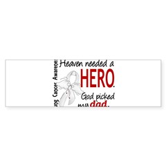 Heaven Needed a Hero Lung Cancer Sticker (Bumper 50 pk)