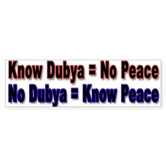 No Dubya Sticker (Bumper 50 pk)