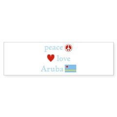 Peace, Love and Aruba Sticker (Bumper 50 pk)