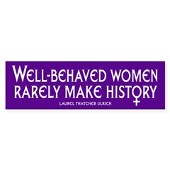 WELL-BEHAVED WOMEN Sticker (Bumper 50 pk)